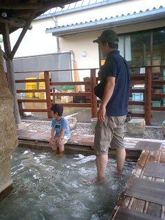 足湯でのんびり