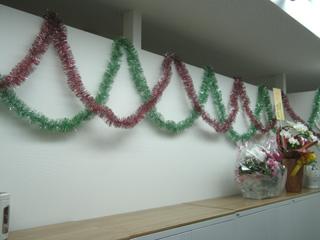 クリスマスっぽい飾り!